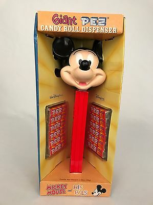 """Mickey Mouse Giant Pez Candy Dispenser Walt Disney 12"""" Inch 2002 with Box Candy"""