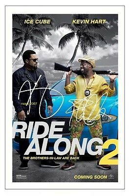 4x6 SIGNED AUTOGRAPH PHOTO PRINT OF KEVIN HART & ICE CUBE RIDE ALONG 2 #42