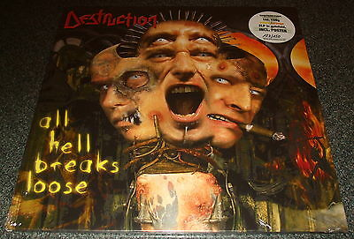 Destruction-All Hell Breaks Loose-2011 2Lp Yellow/orange Vinyl-Limited 150-New