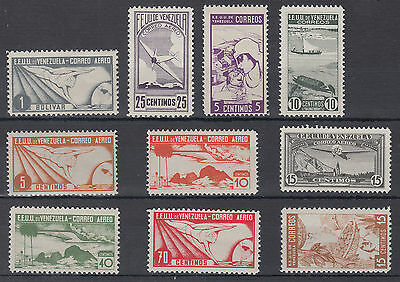 Venezuela Unchecked  Selection  including Airmail; see both scans; Ref: 318