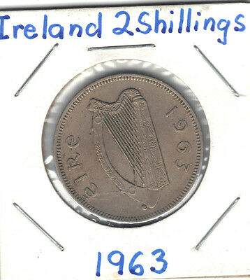Ireland 1963 2 Shillings Coin