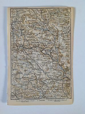 England, Buxton, 1894 Antique Map, Atlas