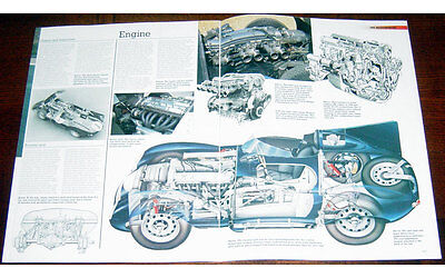 Jaguar D-type Fold-out Poster + Cutaway drawing