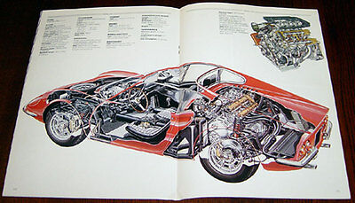 Ferrari Dino - technical cutaway drawing
