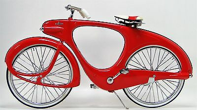 1 Vintage Bicycle Bike 1950s Antique Classic Cycle Metal Midget Model Red