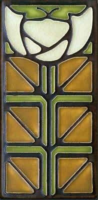 Arts and Crafts Motawi 4x8 Little Journeys Tile in Olive