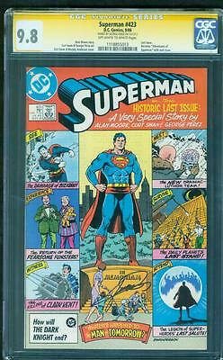 Superman 423 CGC SS 9.8 George Perez Signed Alan Moore Last Issue Classic Top 1