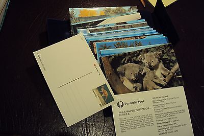 Australia pre-stamped postcards series 2 1978 , 42 cards complete