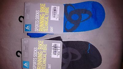 2 Paires Chaussettes Running   Odlo L 42-44 Neuf Superbe Qualite Prix Neuf 30Eur