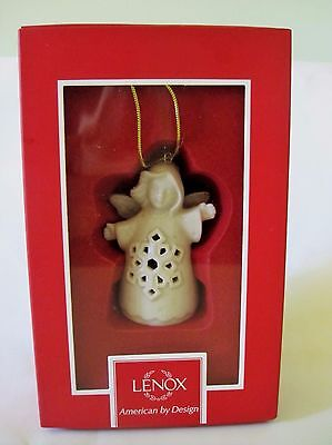 Lenox China Angel Wishes Porcelain Snowflake Bell Christmas Ornament
