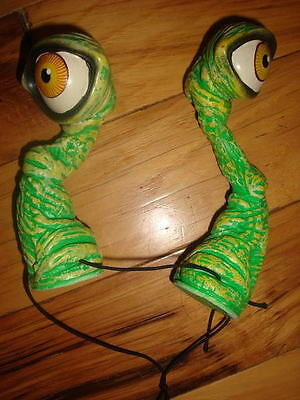 Vintage 1960s Green Monster Eyes on Stalks Wear on Head Halloween
