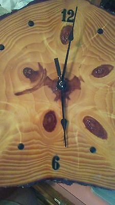 "Vintage wood clock. Great craftsmanship. 12"" width"