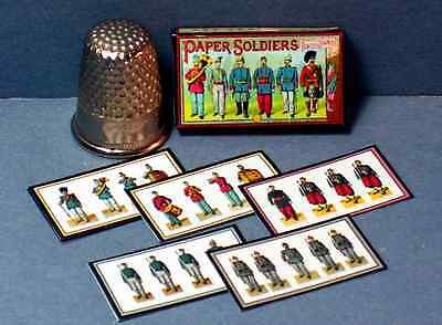 Dollhouse Miniature 1:12  Paper Soldiers  1890s Victorian jdollhouse game toy