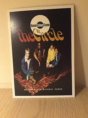 Ocean Colour Scene Promo Postcard The Circle 1996 Paul Weller Mod Indie