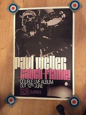 Paul Weller Catch Flame Promo Poster Mint Condition The Jam