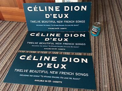Celine Dion Cardboard Shop Display LP 'D'eux' 1999 Great Condition MEGA RARE