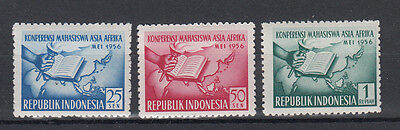 Indonesia:1956 Asian&African Students set of 3 stamps SG710/712.MUH/MNH.cheap