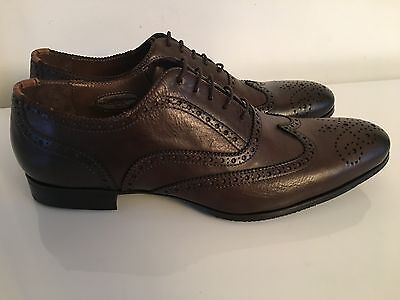 Paul SmithMen's Brown Washed Leather Miller Shoes RRp £450