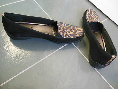 ARAVON by NEW BALANCE Black Suede Leopard Womens Shoes Size 10 AA