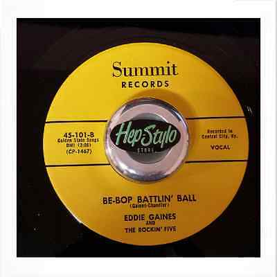 Eddie Gaines 45 Re - Be-Bop Battlin' Ball - Fantastic Club Hit Rockabilly Bopper