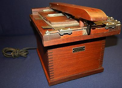 Vintage Rare Early Wooden PENNEX Photo Copier / Duplicator Dovetail Powers Up
