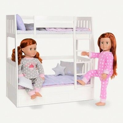 Our Generation Dream Doll Bunk Beds - Doll Furniture Accessories Play Girls Gift