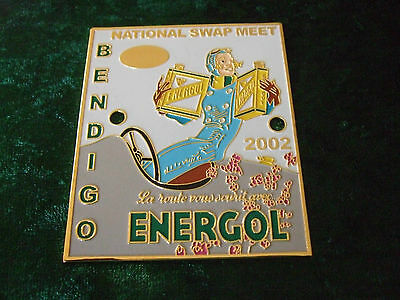 Grille / Car Badge - Energol Advertisement 1930 - Depicted On A Car Badge