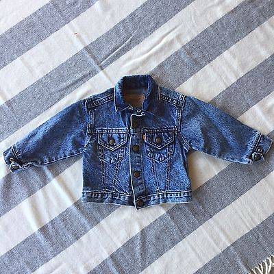 Levi's Orange Tag Vintage Boys Denim Jean Jacket 4t