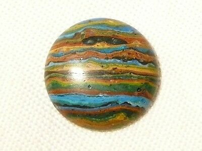 "Turquoise Ribbon Rock (Usa) 18Mm Round Cabochon, 8.8Ct ""new"" Auz Seller C107"