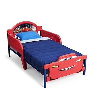 Free Post New in box licensed 3D Disney Cars McQueen kids toddler bed frame