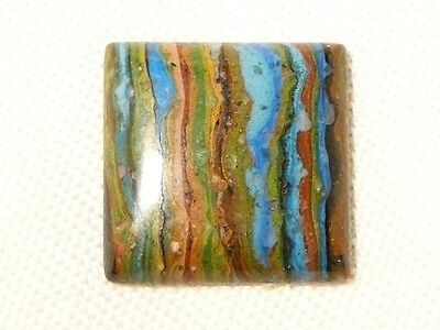 "Turquoise Ribbon Rock (Usa) 18Mm Square Cabochon, 10.4Ct ""new"" Auz Seller C108"