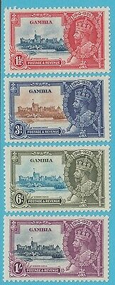 Gambia 125 -128 Silver Jubilee  Mint Hinged Og *  No Faults Extra Fine !