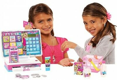Barbie Girls Pretend Role Play Cash Register Toy - Shopping Game Set + Sounds