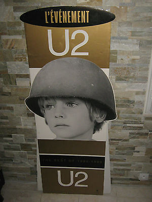 U2 Ultra Rare French Promo Display Plv The Best Of 1980-1990 158 Cm X 70 Cm
