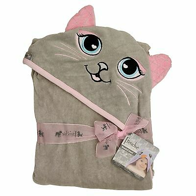 """Extra Large 40""""x30"""" Hooded Towel for Babies, Infants, Toddlers, Kids, Grey Cat"""