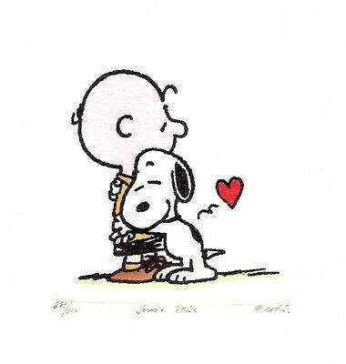 3 x PEANUTS / SNOOPY HAND PAINTED LTD ED ETCHINGS - DISCOUNTED
