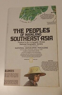 National Geographic Map, March 1971, The Peoples of Mainland Southeast Asia