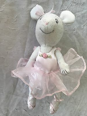 """AMERICAN GIRL Pleasant Co ANGELINA BALLERINA DOLL 9"""" PLUSH MOUSE Toy"""