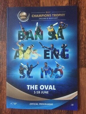 ICC Champions Trophy Cricket Programme Oval 1-18 June 2017 India