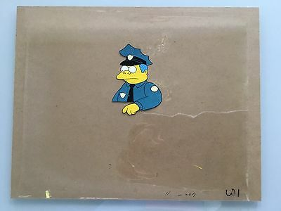 The Simpsons Animation Cel, Chief Whigham, Hand Painted, Original, Rare