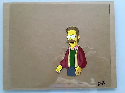 The Simpsons Animation Cel, Ned Flanders, Hand Painted, Original, Rare