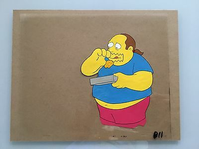 The Simpsons Animation Cel, Comic Book Guy, Hand Painted, Original,  VERY Rare