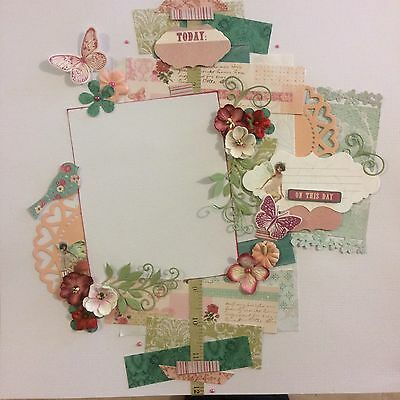 handmade scrapbook page 12 X 12 On This Day Today Themed Layout