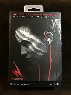 8dea786b76c New iHip Warrior SLY Intuition Athletic Sports Earphones w/Built-in  Microphone