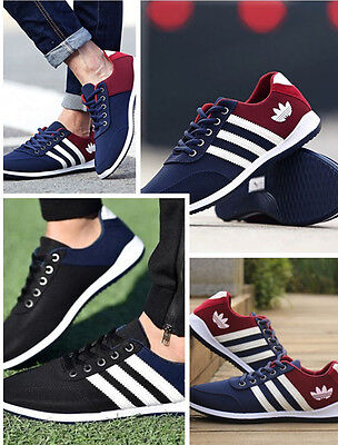 Chaussures Hommes Mode respirant Casual Canvas Sneakers chaussures de course new