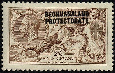 Bechuanaland 1916 sea horses 2s.6d. pale brown (DLR), MH (SG#85)
