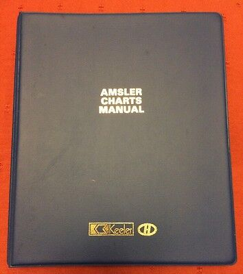 Opticians Amsler Charts Manual By Keeler 1980's