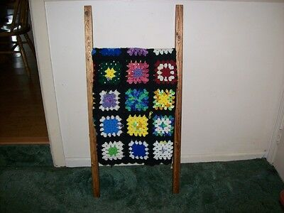"""Leaning Ladder Quilt/Blanket Rack,""""1"""" To Sell!"""
