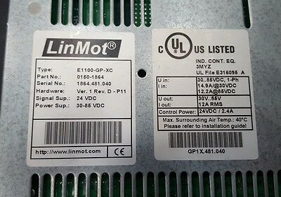 LINMOT E1100-GP-XC 0150-1864 SERVO DRIVE . Net Price €569 Fedex Shipping