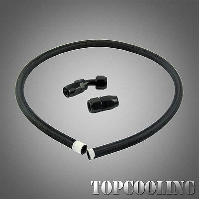 AN8 Nylon Braided Hose 1M  + Fitting Hose End Adaptor Kit Oil Fuel Cooler